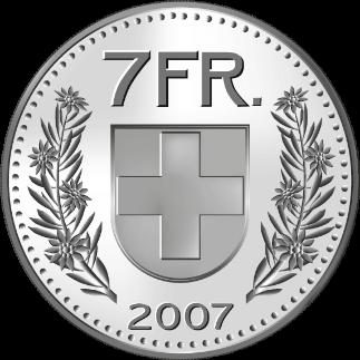 pièce 7 francs tipee