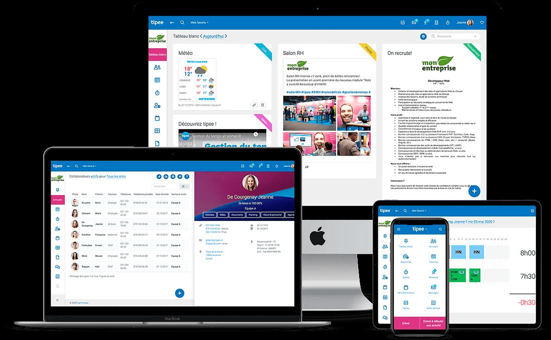 application tipee sur mobile tablette et ordinateur